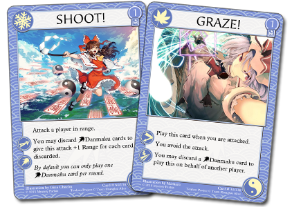 Shoot and Graze cards