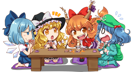 Chibis playing Danmaku!!
